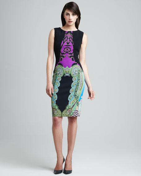 Paisley-Panel Dress