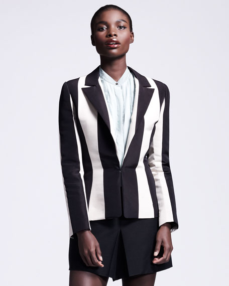 Vertical-Striped Jacket