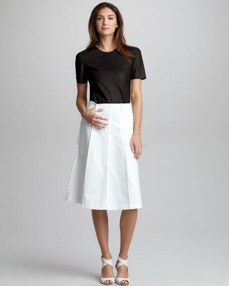 Umbrella-Pleat Skirt