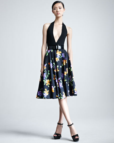Lenorah Floral-Print A-Line Skirt