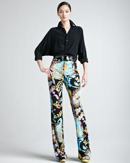 Chaundra Printed Jersey Pants