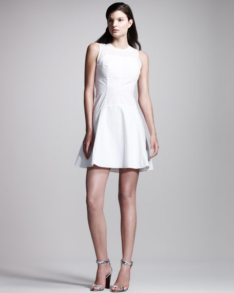 Sleeveless Poplin Dress