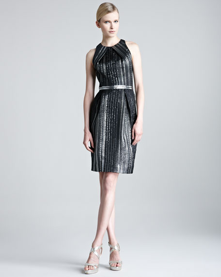 Braided Metallic Organza Dress