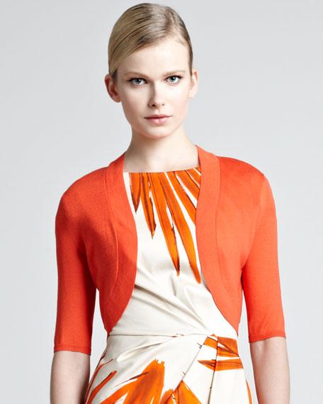 Knit Silk Shrug, Blood Orange