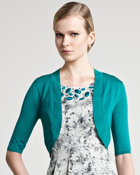 Knit Silk Shrug, Emerald