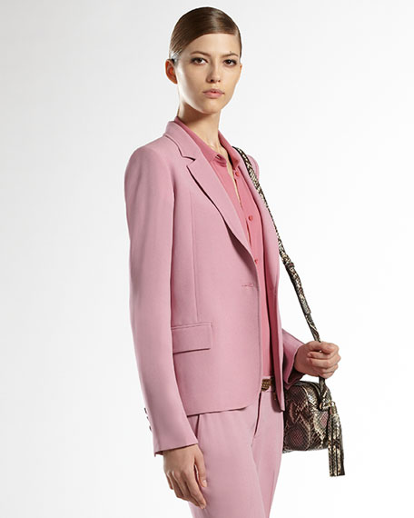 Matte Satin Single-Button Jacket