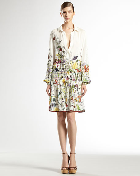 Flora Infinity Printed Silk Georgette Dress