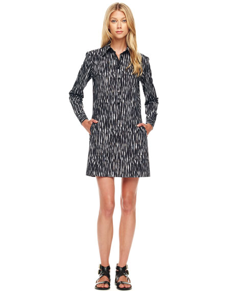 Printed Poplin Shirtdress
