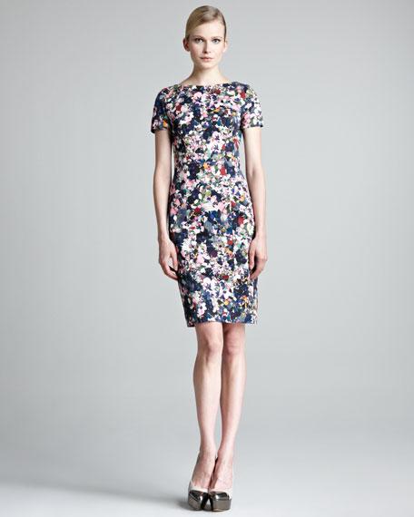 Joyce Short-Sleeve Floral-Print Dress