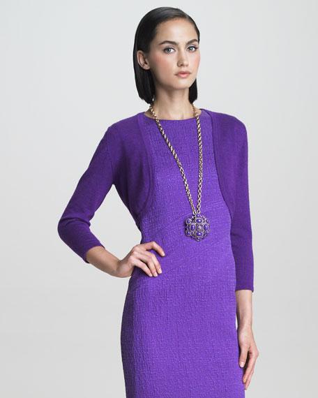 Fine Knit Bolero, Violet