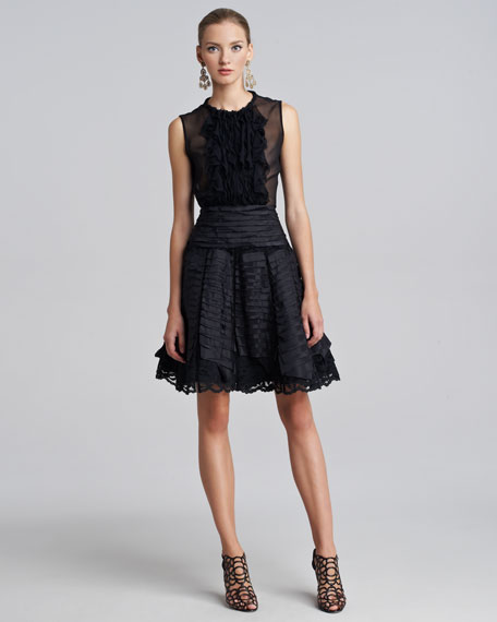 Taffeta Lace Party Skirt
