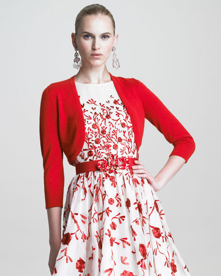 Fine Knit Bolero, Carnation