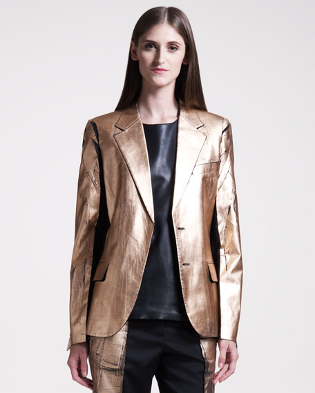 Metallic-Leafed Jacket