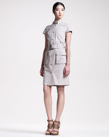 Gabardine Safari Dress