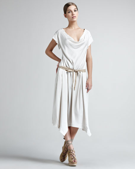 Sport Satin Draped Dress