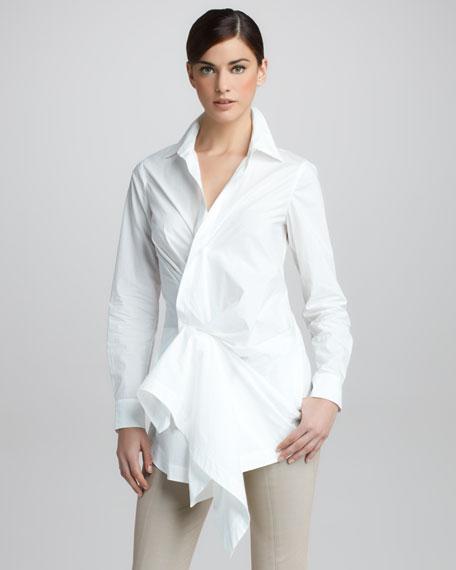 Paper Cotton Side-Draped Tunic