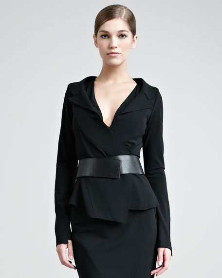 Structured Matte Jersey Jacket