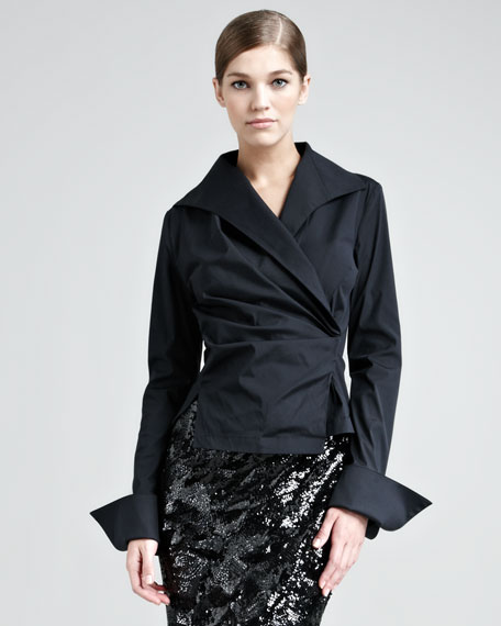 Stretch-Taffeta French-Cuff Shirt