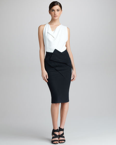 Asymmetric Draped Skirt