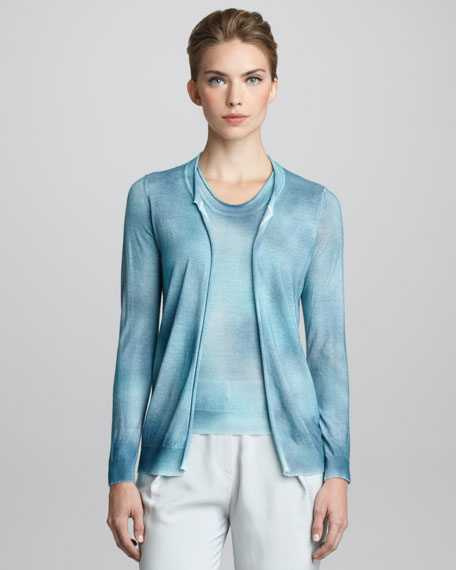 Hand-Painted Cashmere Cardigan