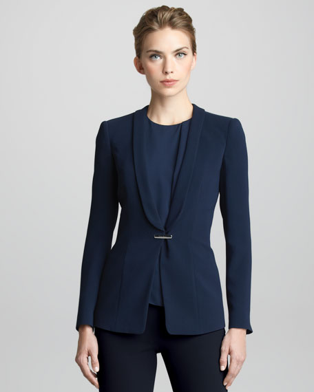 Techno-Cady Shawl-Collar Jacket