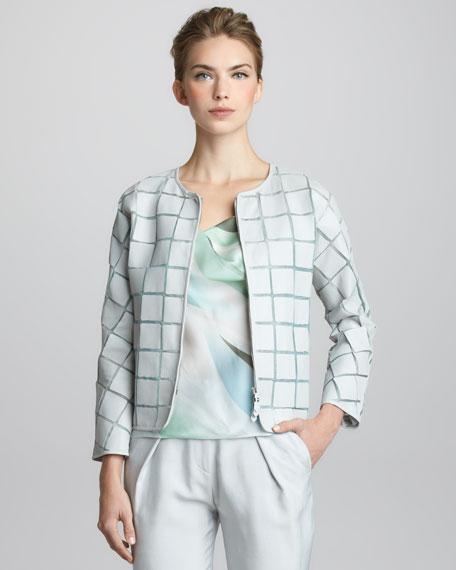Tiled Leather Jacket