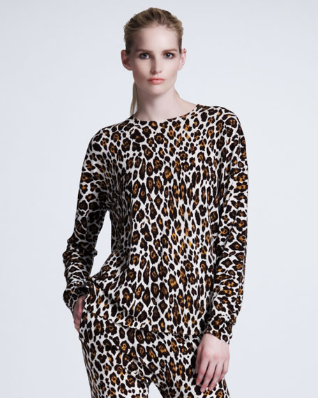 Leopard-Print Pullover