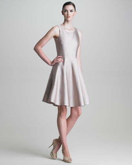 Cross-Back Gazar Dress