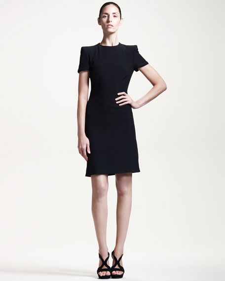 Short-Sleeve Dress with Side Slit