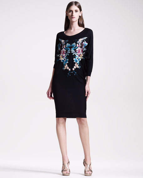 Embroidered Dolman Dress