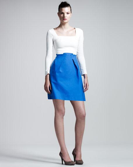 Paynter Stretch-Crepe Combo Dress