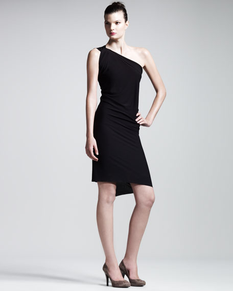 Wimba One-Shoulder Jersey Dress