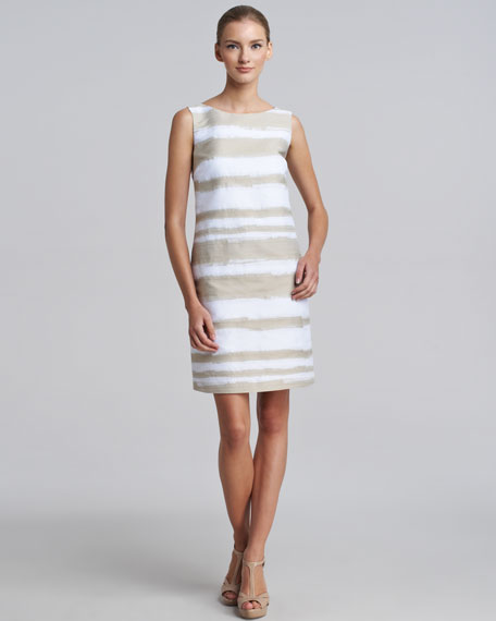 Brushstroke-Jacquard Dress
