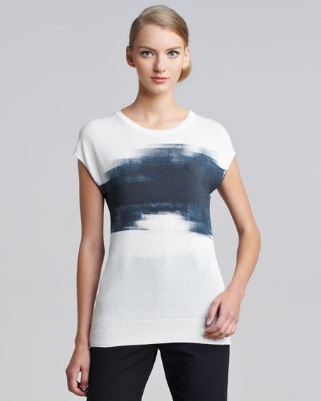 Brushstroke-Print Shell