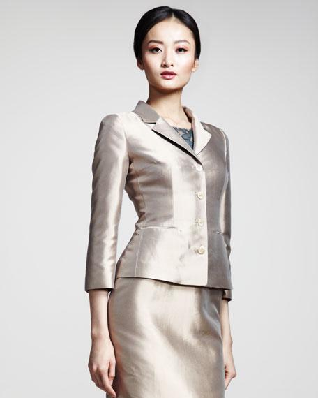 Silk Mikado Jacket