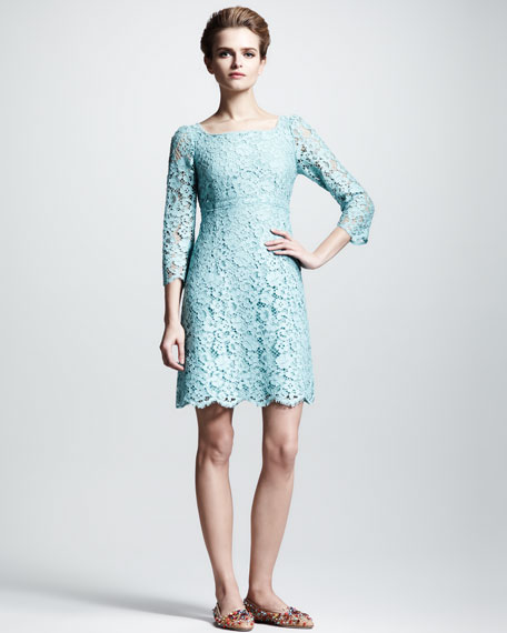 Empire-Waist Lace Dress