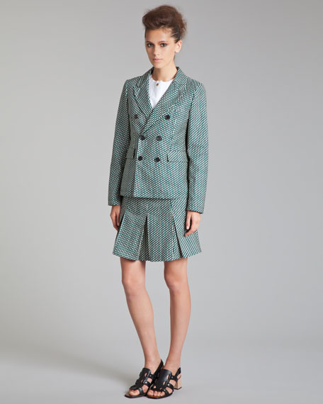 Pleated Schoolgirl Miniskirt