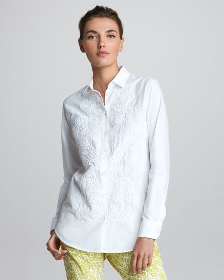 Long-Sleeve Embroidered Shirt
