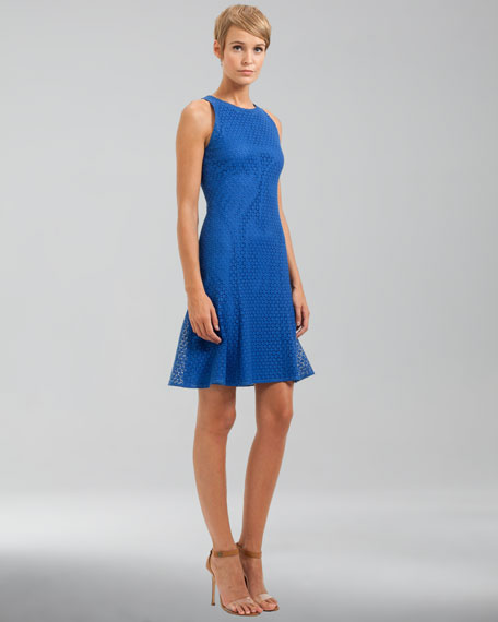 Sleeveless Lace Dress, Royal