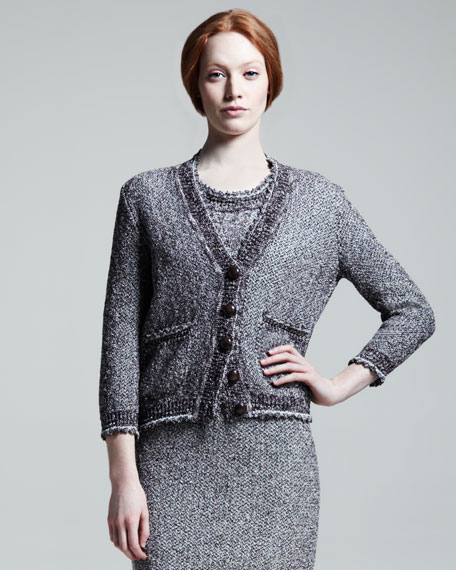 Knit Cardigan, Ebony