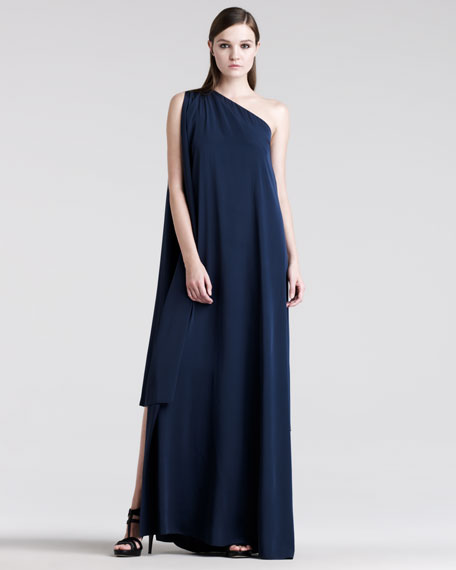 One-Shoulder Asymmetric Gown
