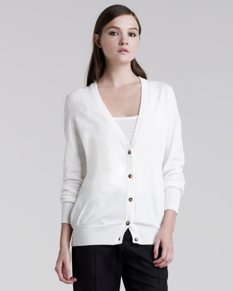 Elbow-Patch Cardigan
