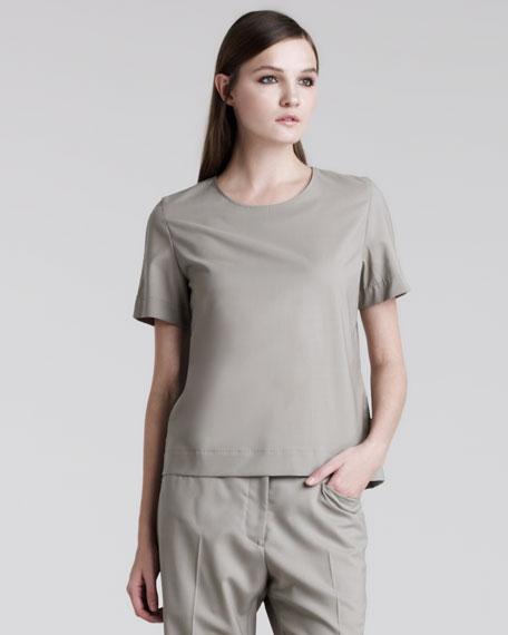 Back-Zip Wool Tee