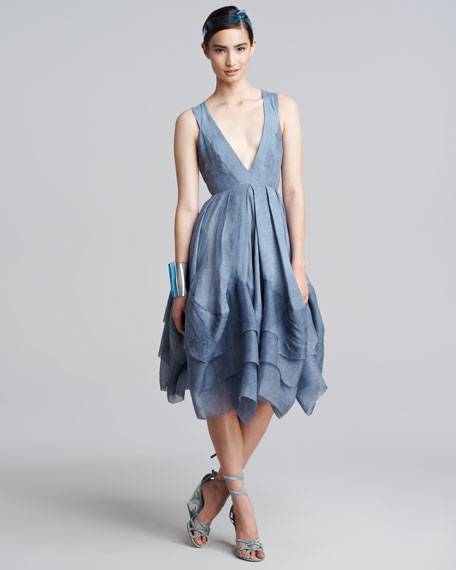Plunging-Neck Dress, Tempest