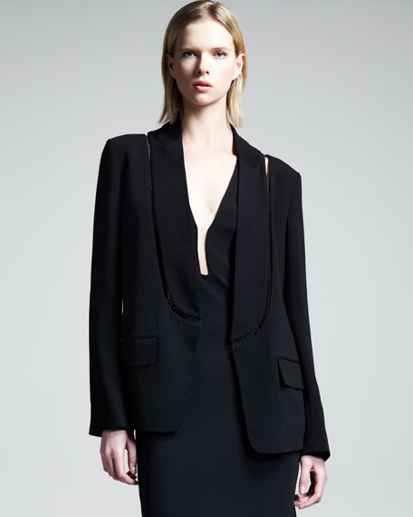 Cutout Set-in-Collar Blazer