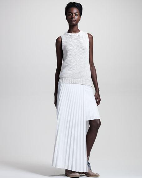 Cutout Pleated Skirt