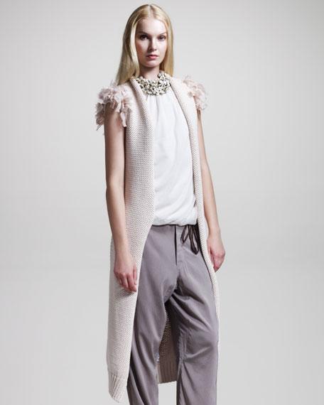 Chunky-Knit Long Vest