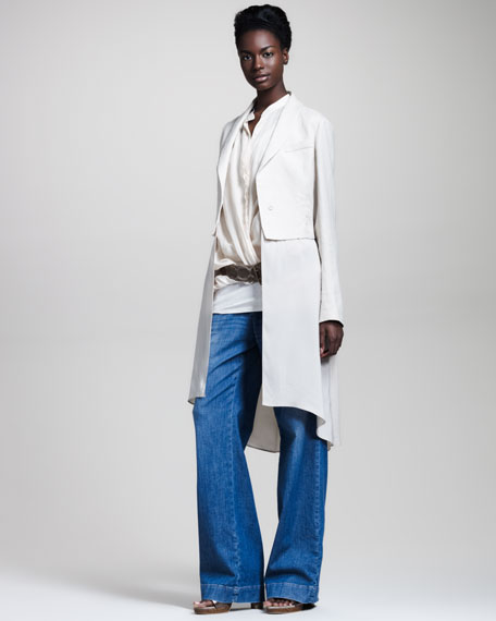 Long Shawl-Collar Jacket