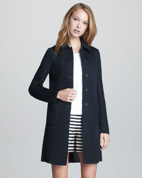 Sporty Mesh-Weave City Coat