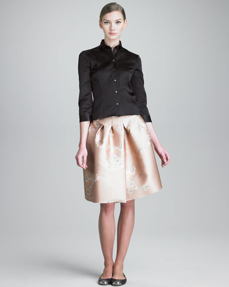 Full Skirt with Stitched-Down Pleats